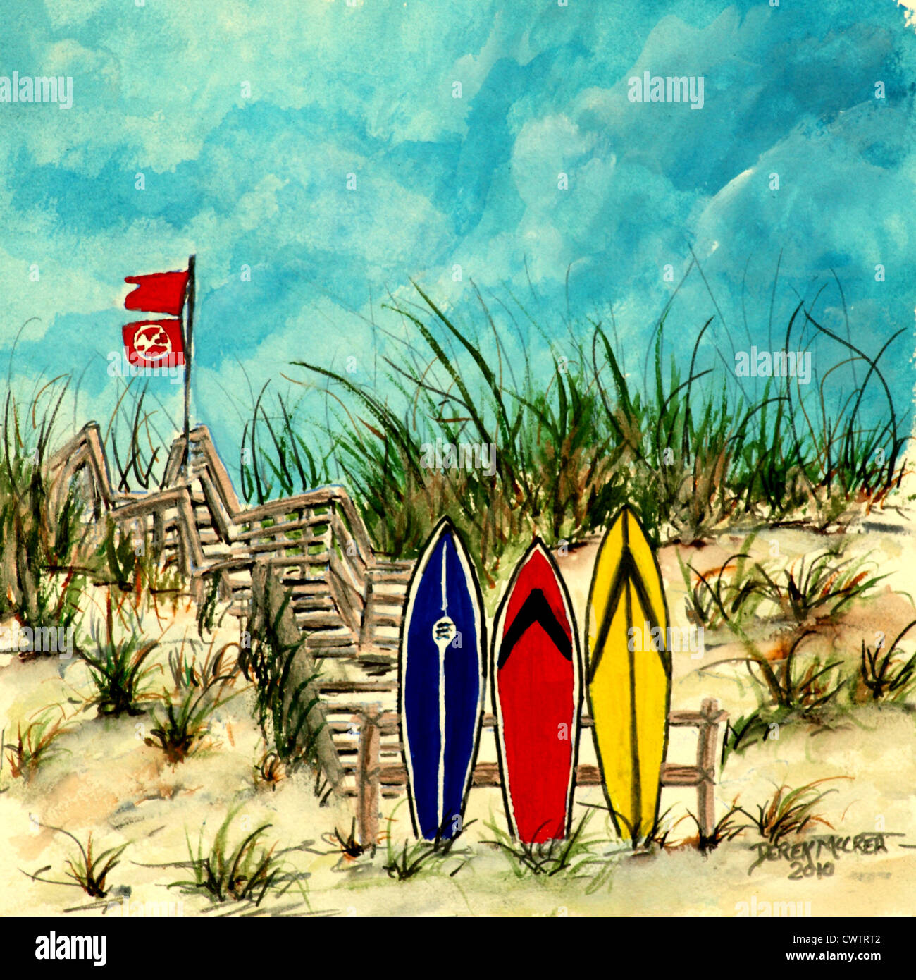 Painting A Surfboard With Acrylic Paint