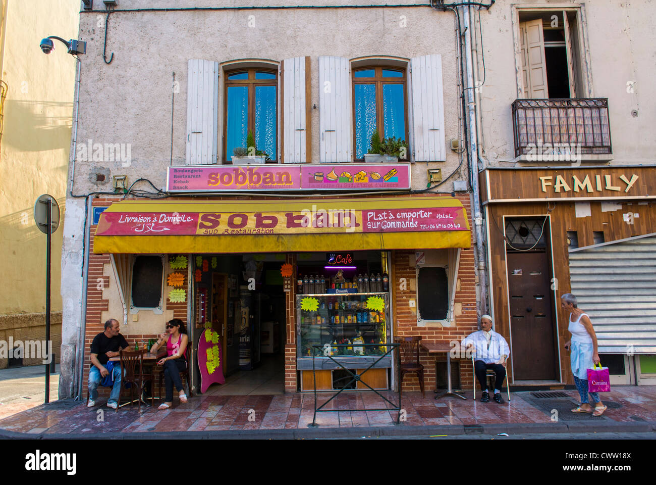 Perpignan france old french store fronts south of france arabian stock photo royalty free - Boutique free perpignan ...