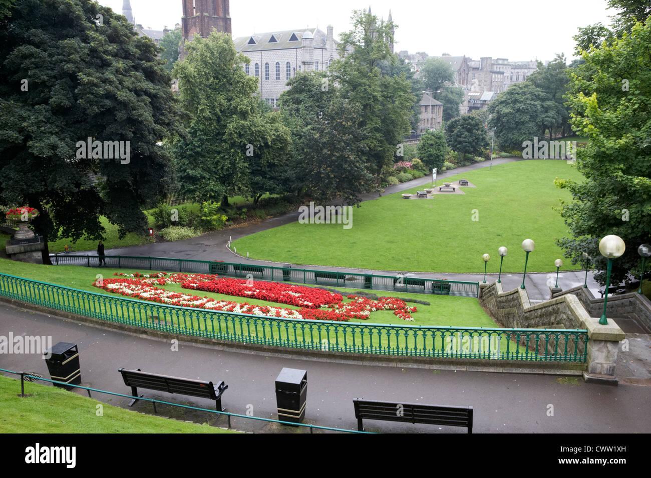 Union terrace gardens aberdeen city centre on a dull wet for Terrace 33 city garden