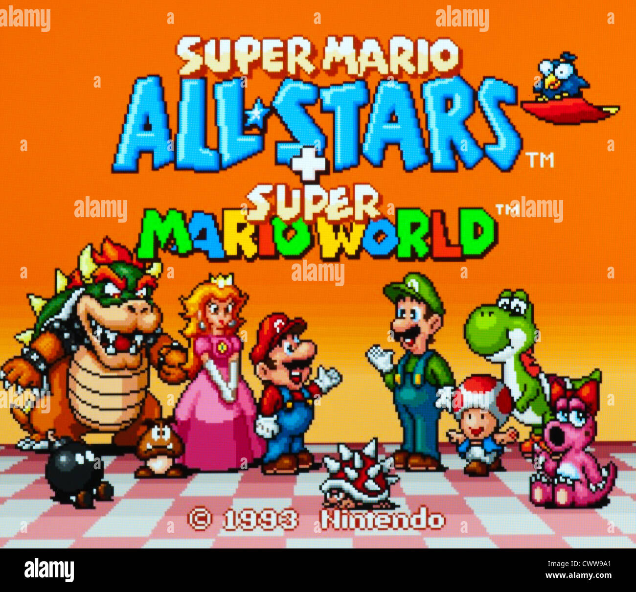 Super Mario All stars video game - title screen Stock Photo, Royalty Free Image: 50343273 - Alamy