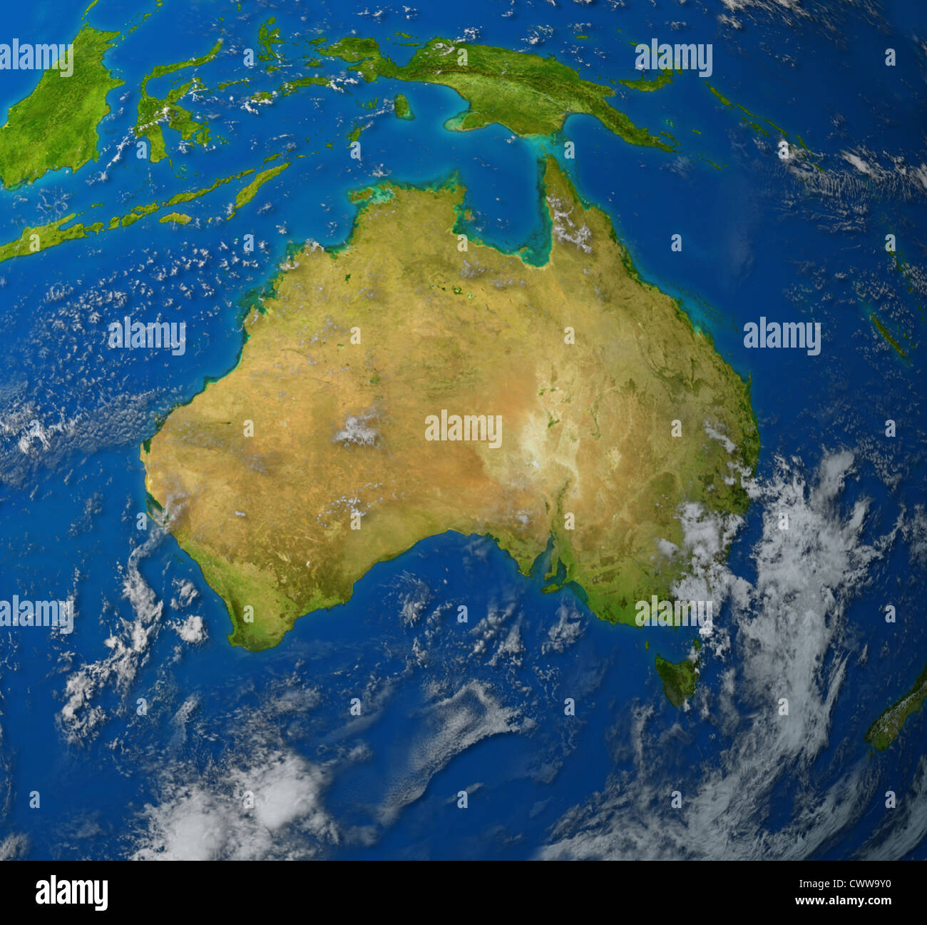 Australia Realistic Map Of The Continent Of Oceana In The Pacific - Australia continental map