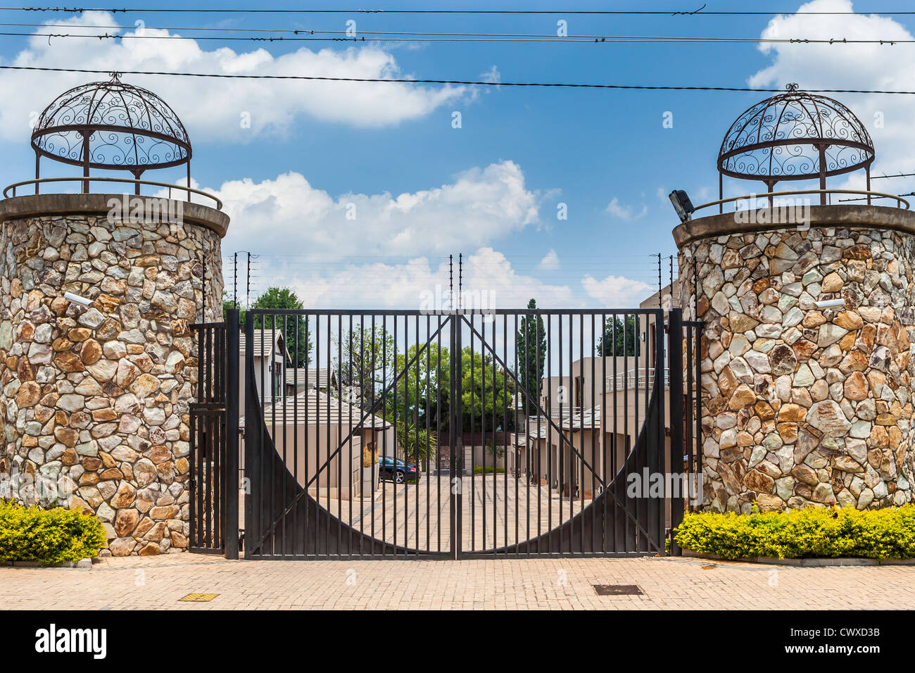Gated Development High Walls And Electric Fences