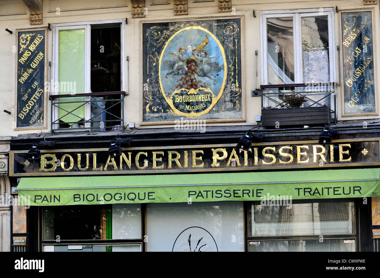 paris france facade of boulangerie patisserie on rue monge 5th stock photo royalty free. Black Bedroom Furniture Sets. Home Design Ideas