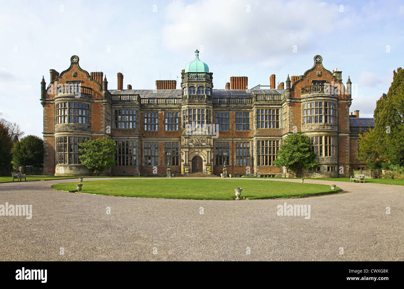 Ingestre Hall Stately Home Or Country House Near To Stafford Stock - Country house uk