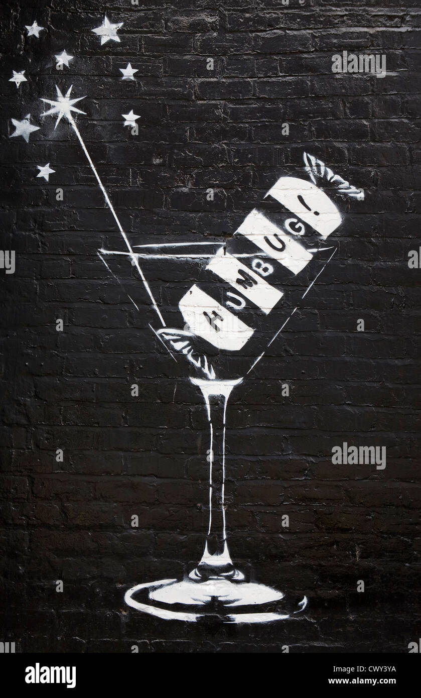 bar humbug night club emblem on painted wall graphic design mural - Wall Graphic Designs