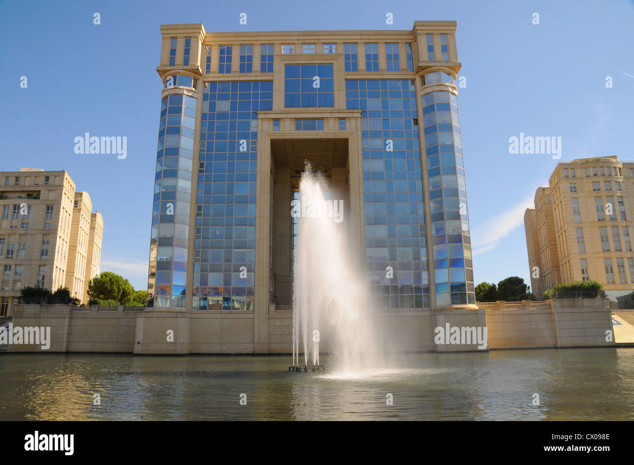 Modern Architecture France montpellier france, modern architecture stock photo, royalty free