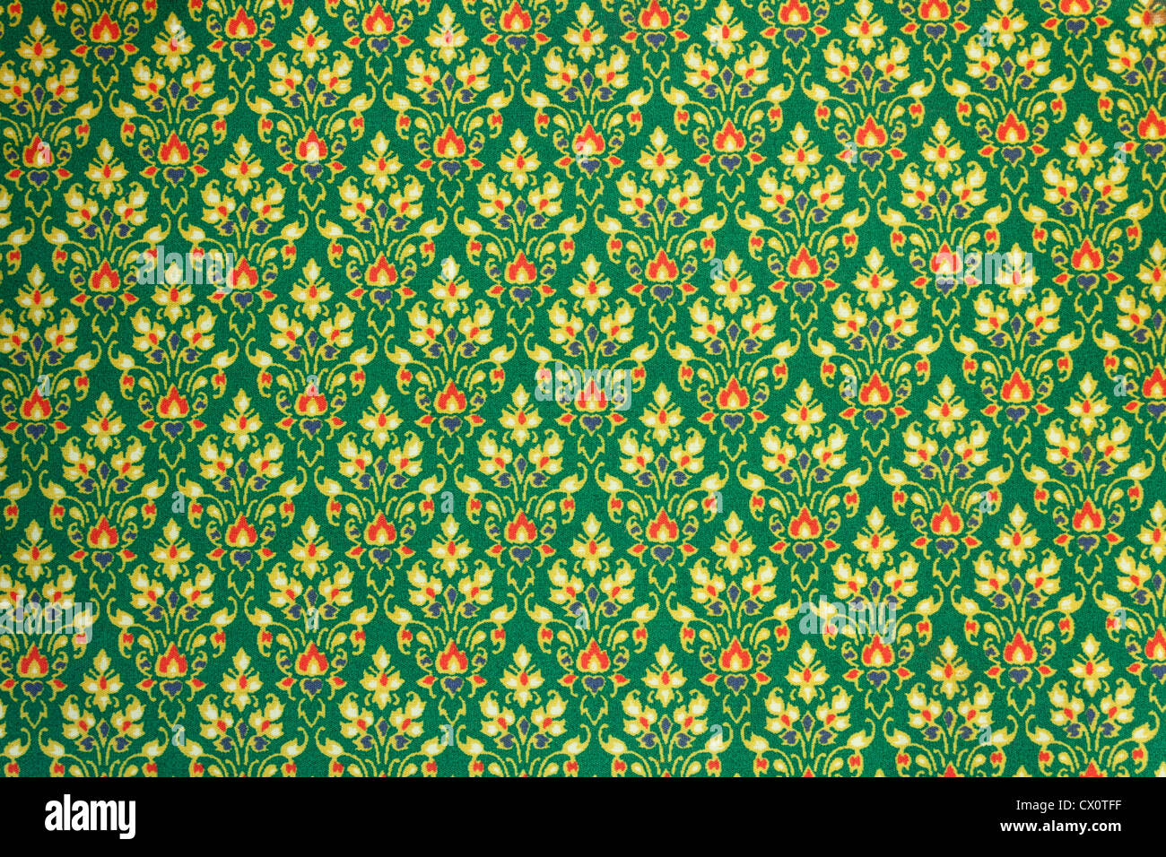 Thai Design Wallpaper : Background of fabric cotton material with a traditional