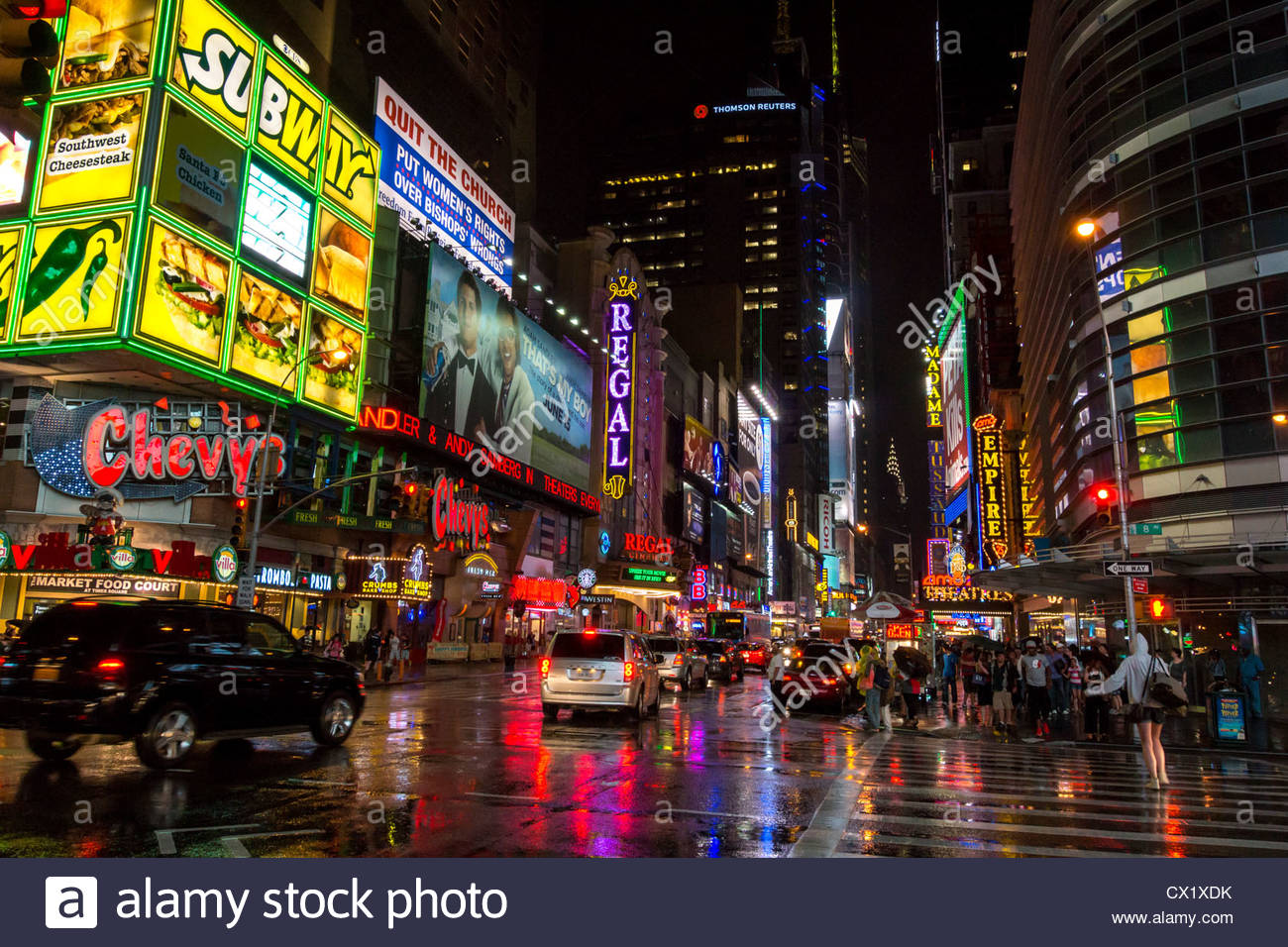 42nd Street Times Square Theater District Manhattan New ...