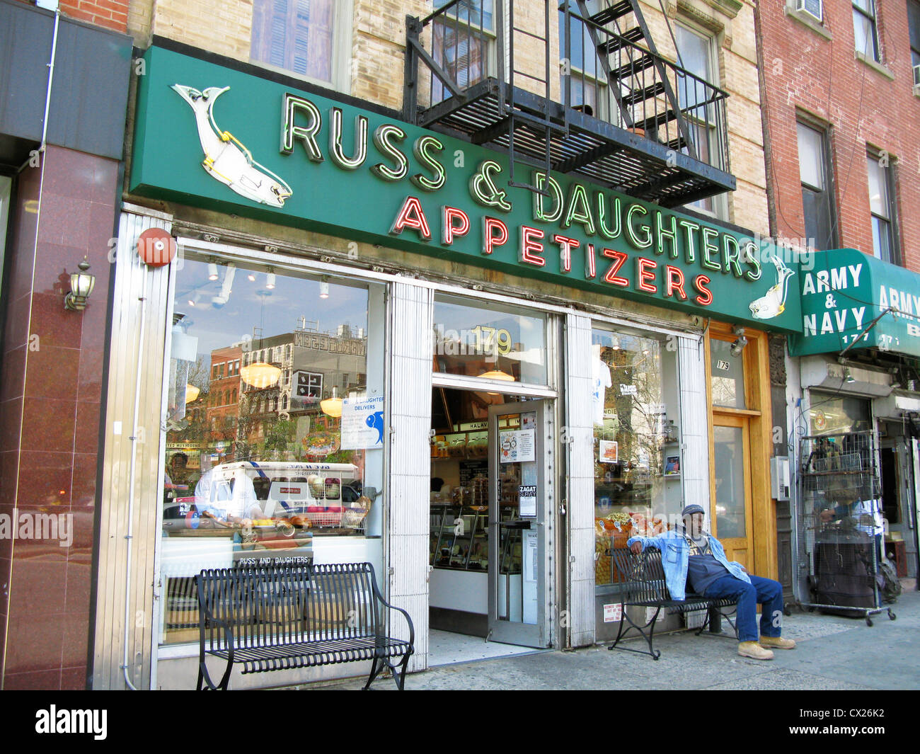 Front of russ daughters food shop restaurant for Fishing store nyc