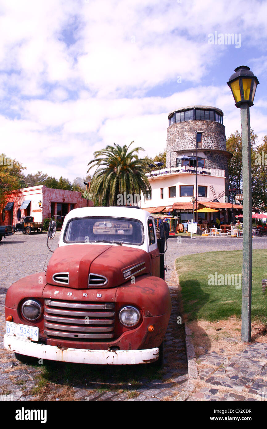 Old time cars in Colonia Uruguay Stock Photo, Royalty Free Image ...
