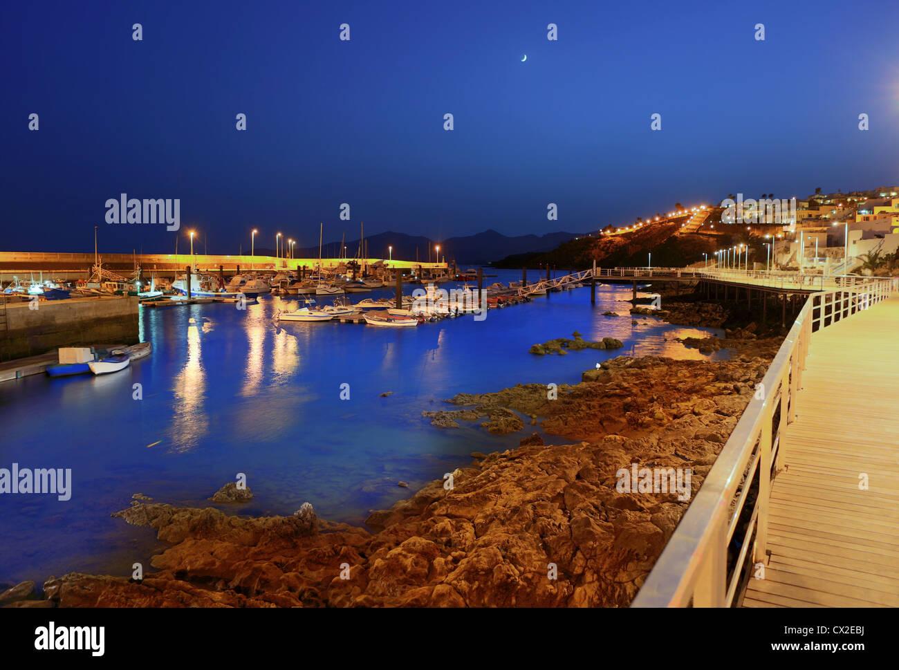 Lanzarote puerto del carmen harbour night view in canary islands stock photo royalty free image - Port del carmen lanzarote ...
