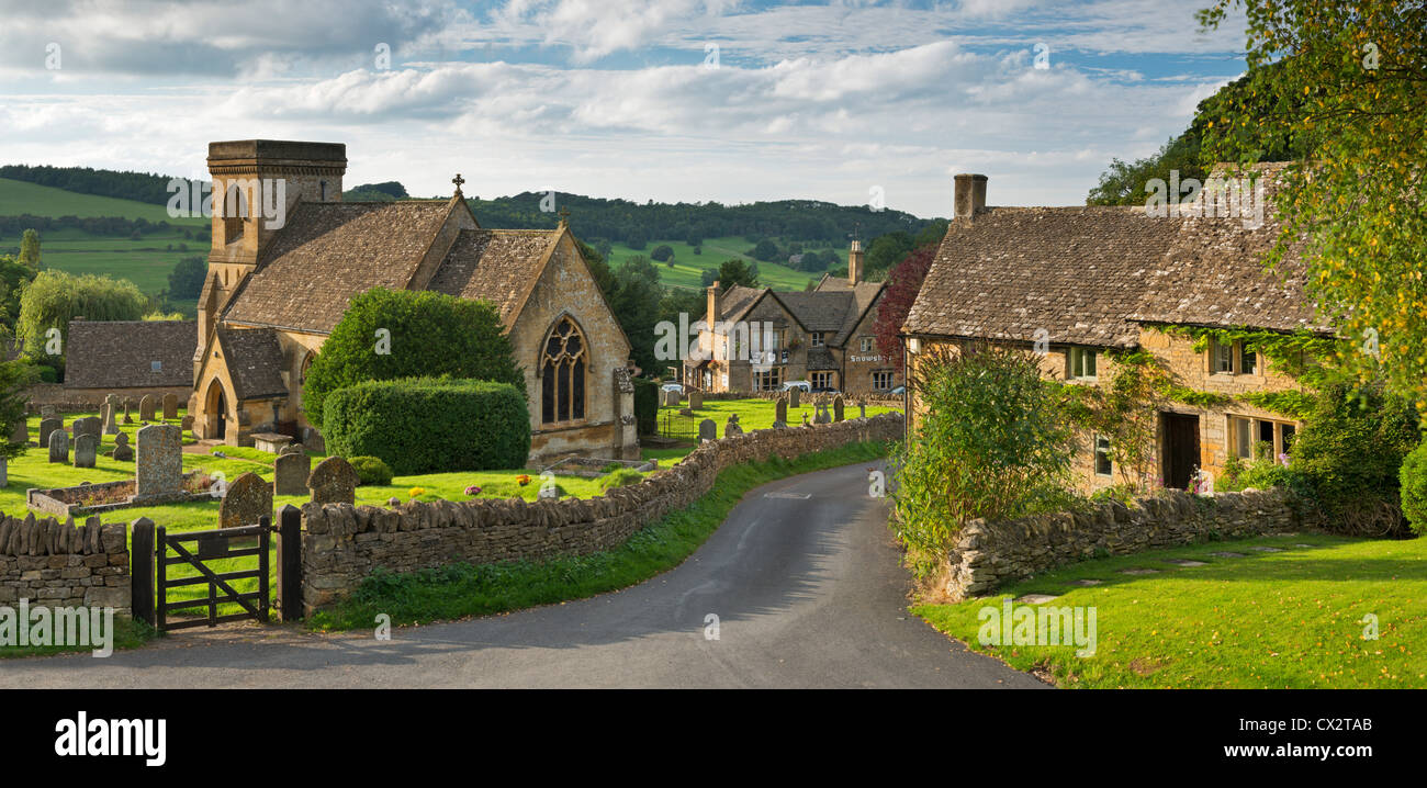 picturesque snowshill church and village cotswolds