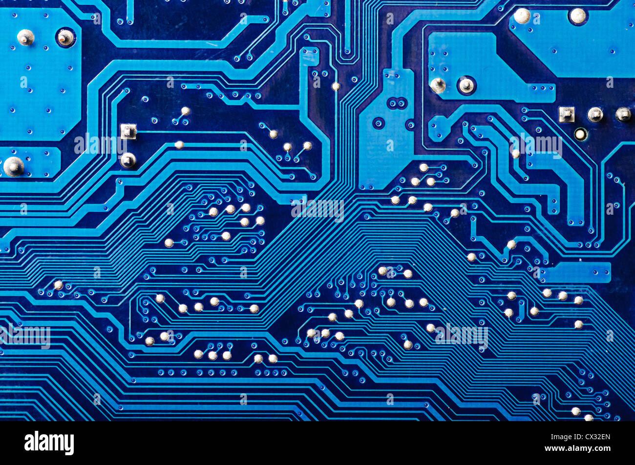 Motherboard Circuit Illustration: Blue Digital Circuit Board Background (pc Motherboard