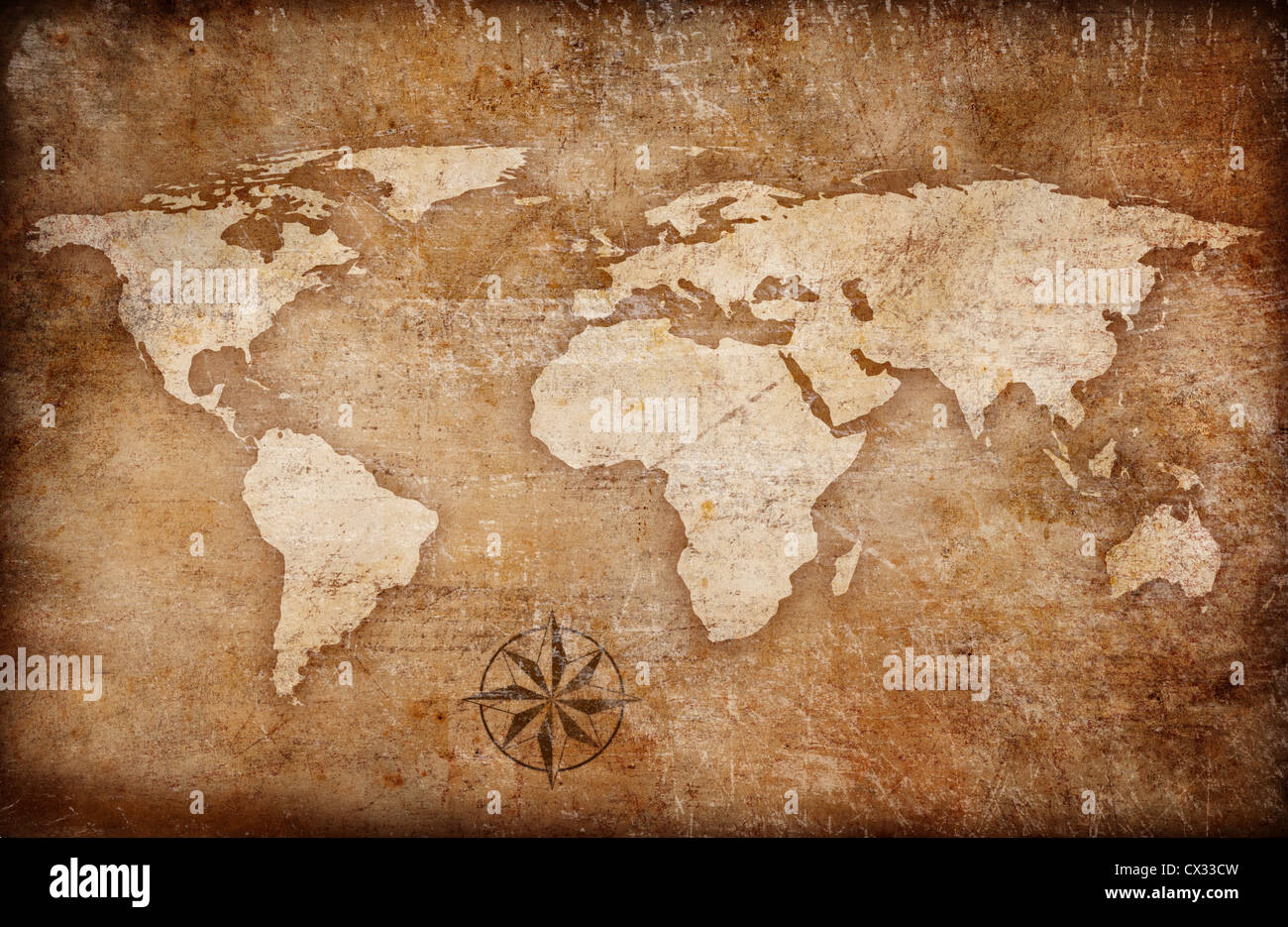 Grunge world map background with rose compass stock photo 50470361 grunge world map background with rose compass gumiabroncs Gallery