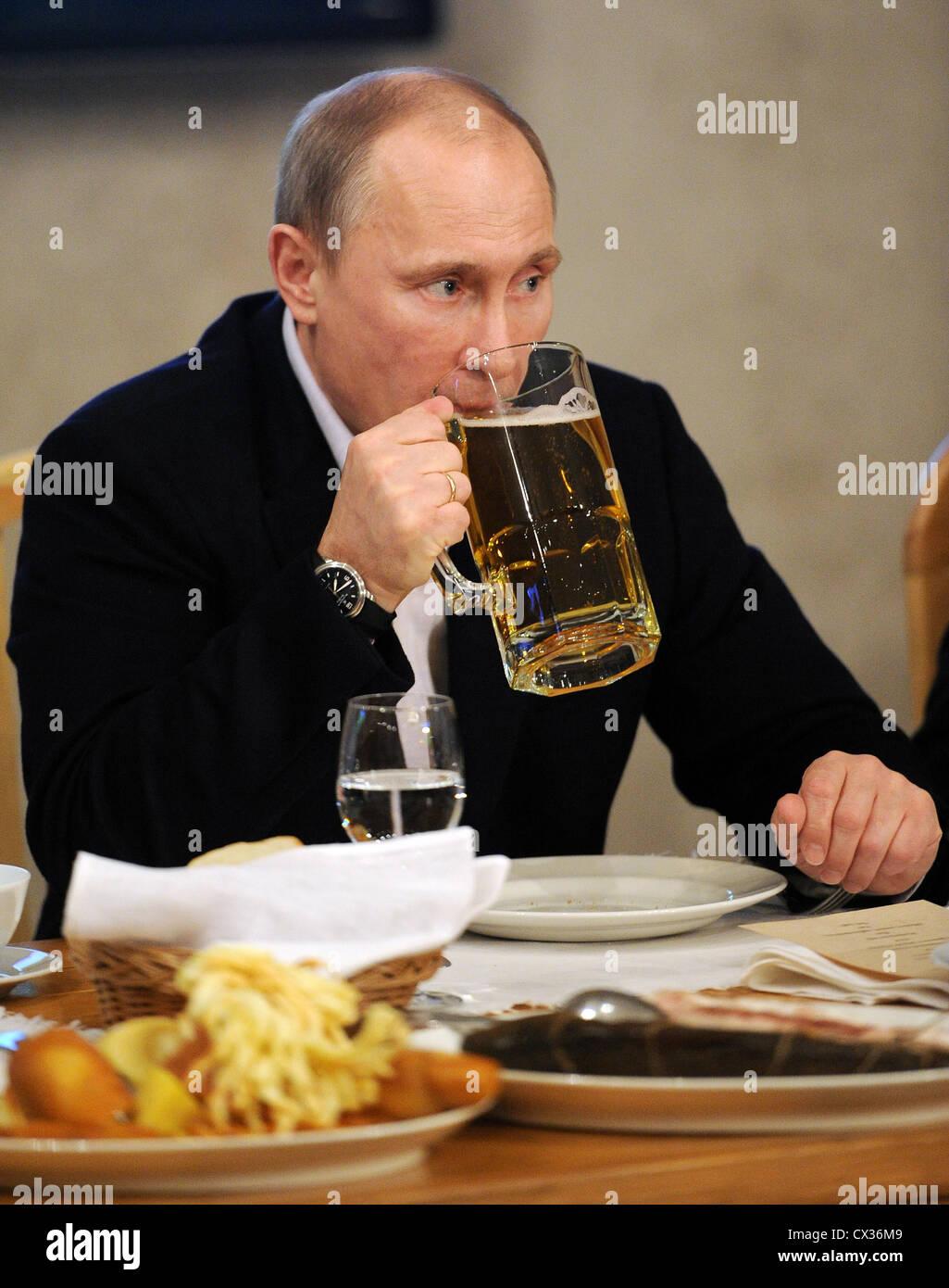 A bottles of beer featuring Russian President Vladimir ... |Putin Beer