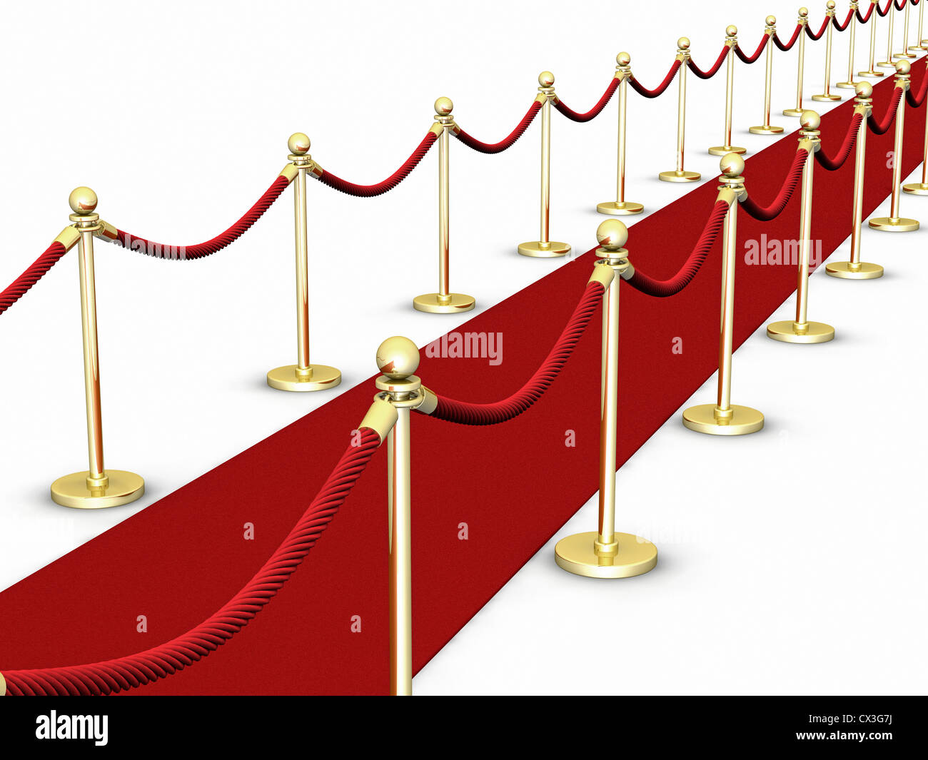 roter teppich mit absperrung auf wei red carpet and a rope or stockfoto lizenzfreies bild. Black Bedroom Furniture Sets. Home Design Ideas