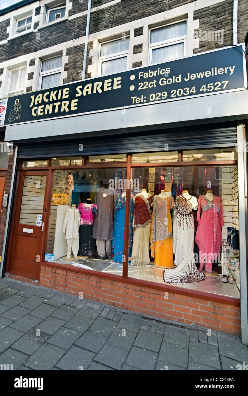 Jackie saree centre Cardiff Indian asian clothes shop Stock Photo Royalty Free Image 50492578 ...