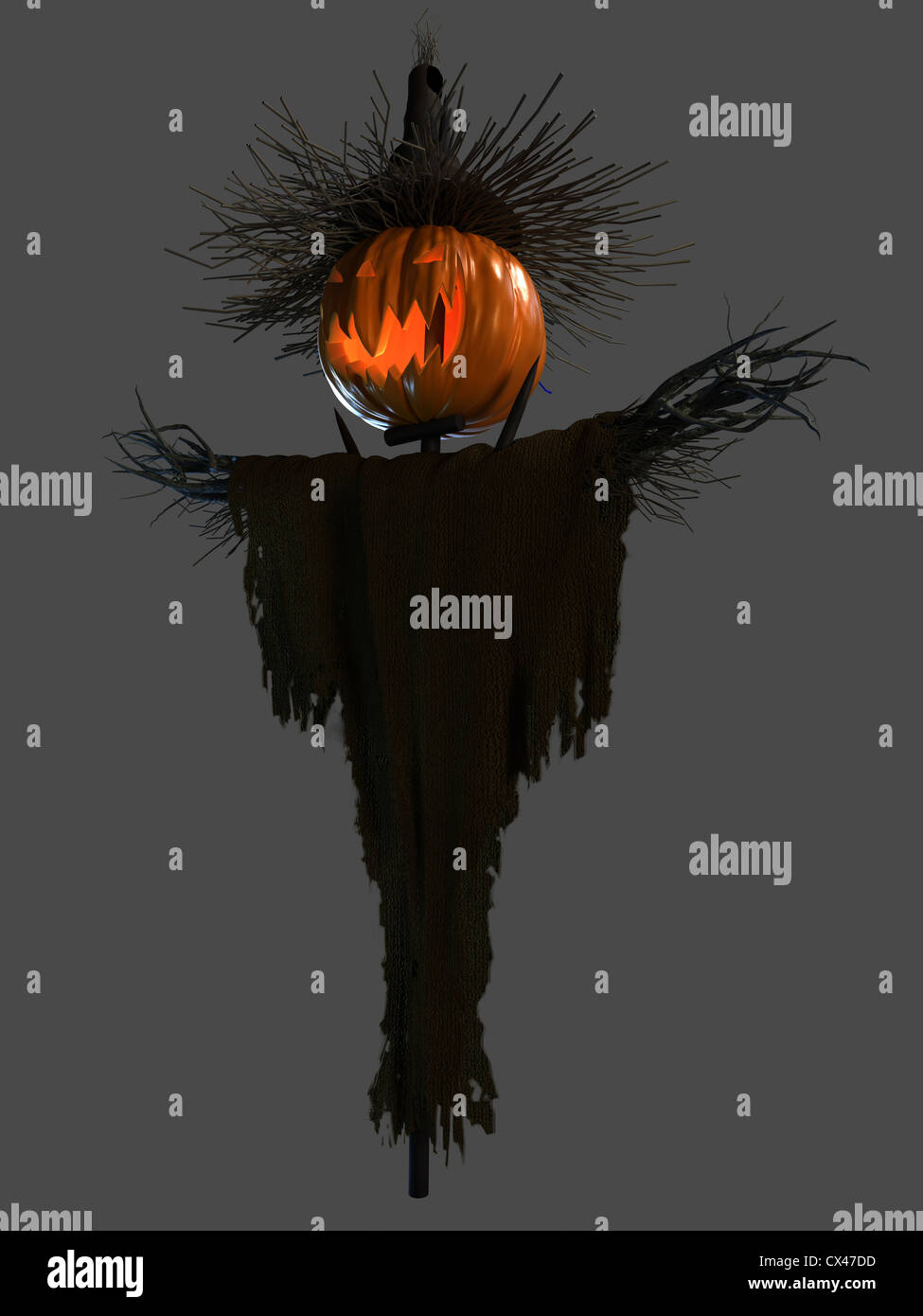 3d rendered illustration of a scary halloween scarecrow Stock ...
