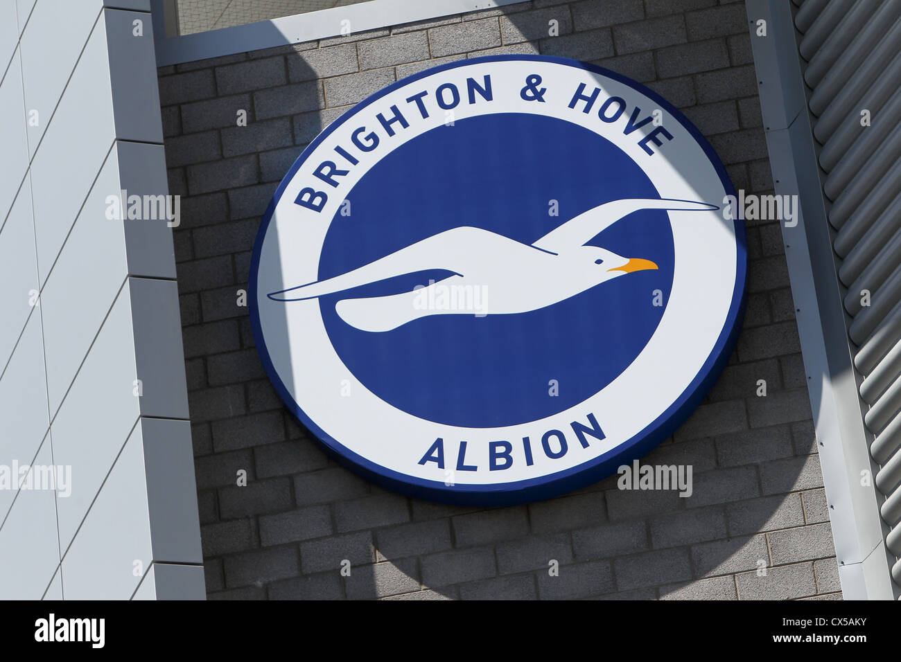 brighton and hove football club logo on the side of their