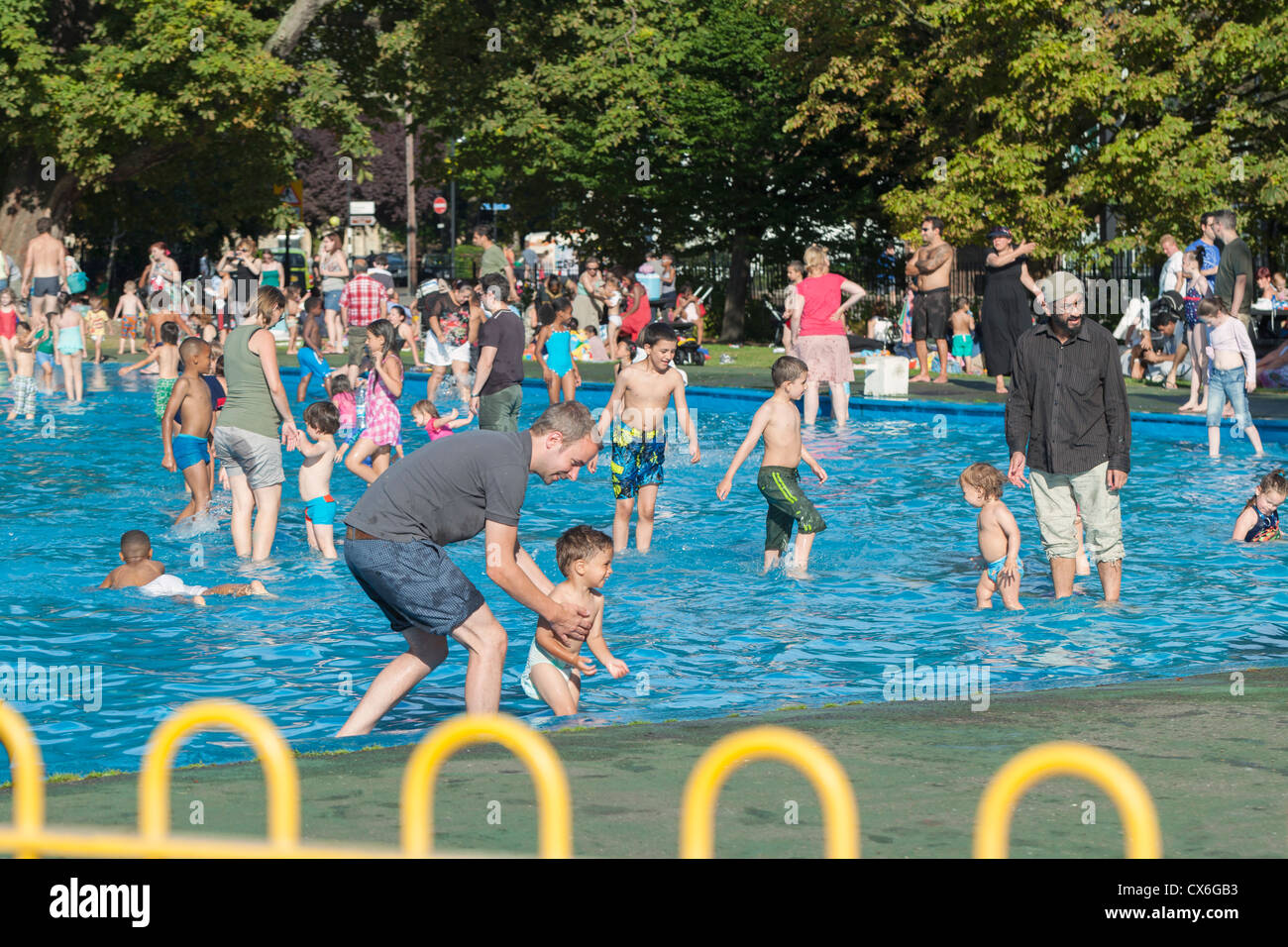 Toddlers Paddling Pool At Clissold Park London England Stock Photo Royalty Free Image