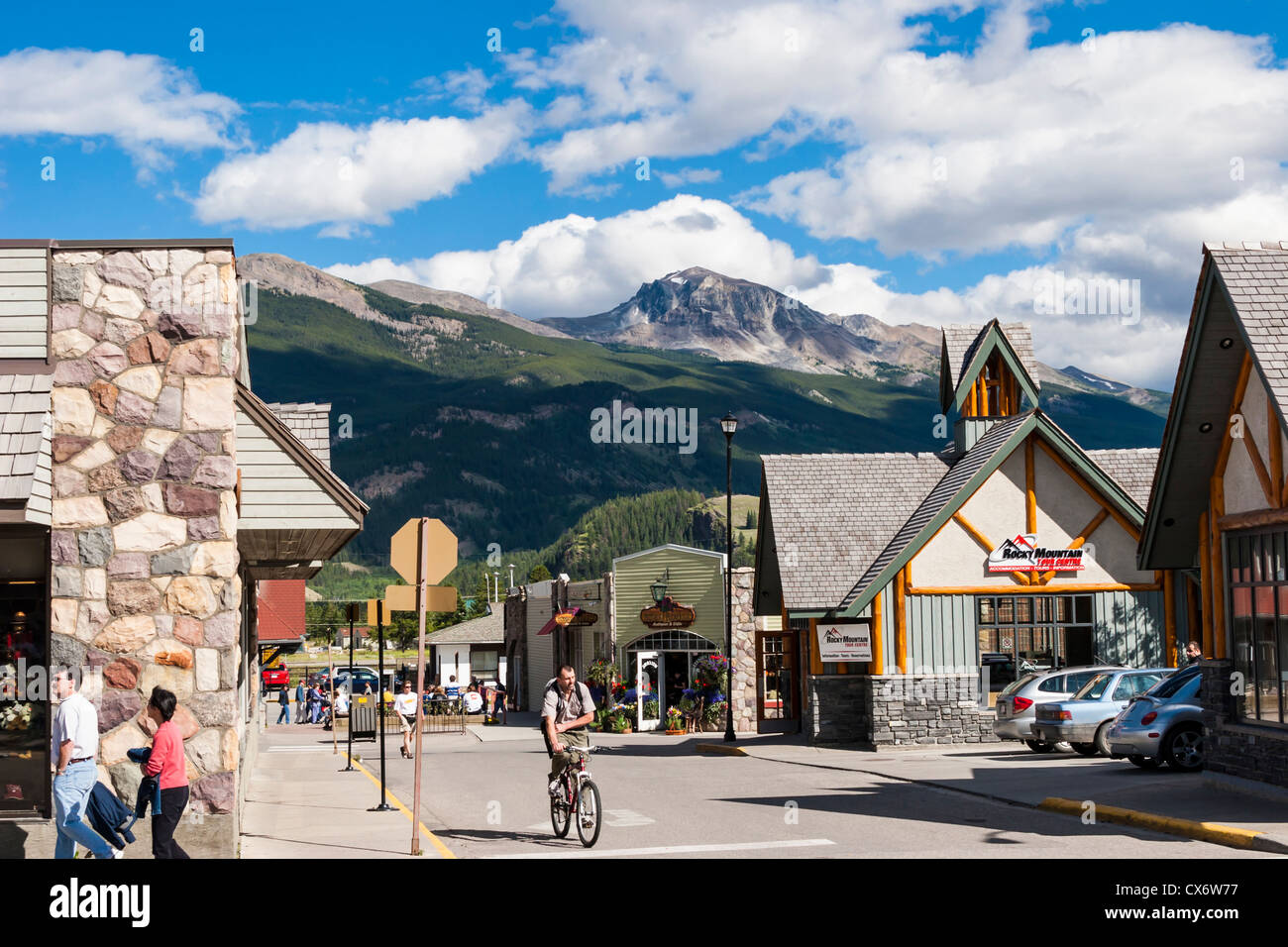 Downtown Jasper In Jasper National Park In Alberta Canada