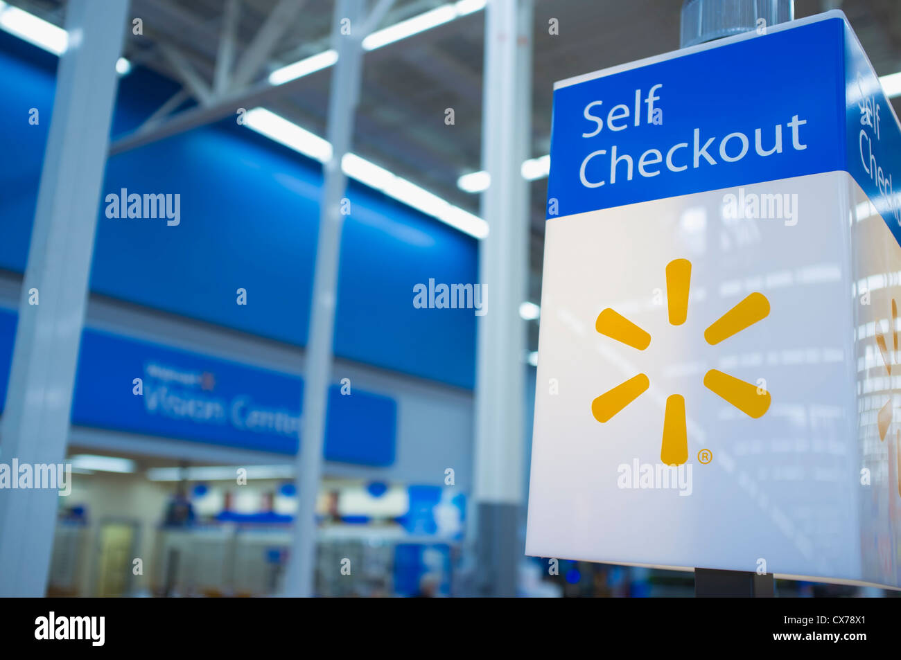 Self Checkout Signal Light at WalMart Stock Photo, Royalty Free ...