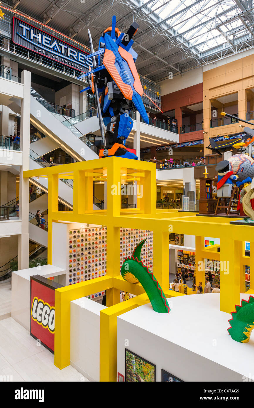 Nickelodeon Universe is an indoor theme park in the center of the mall. The park features roller coasters, among numerous other rides and attractions, and is .