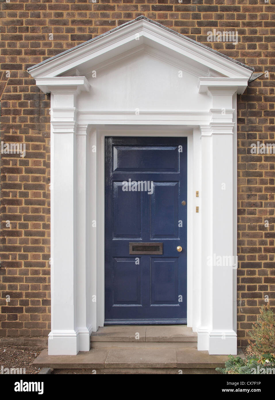 A traditional entrance door of a British house Stock Photo ...