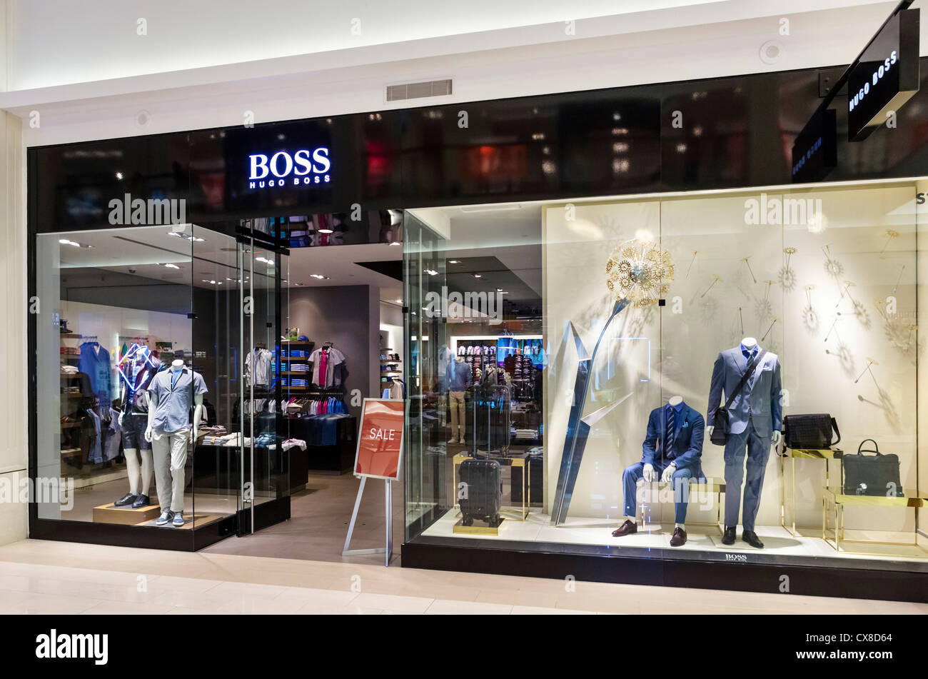 hugo boss store in the mall of america bloomington minneapolis stock photo royalty free image. Black Bedroom Furniture Sets. Home Design Ideas