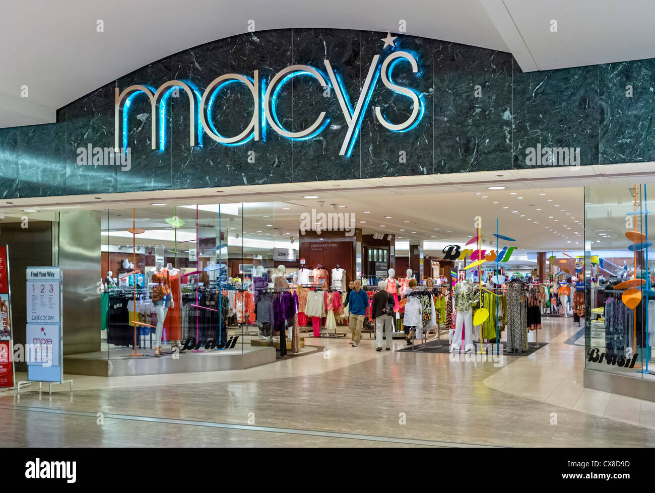 macy 39 s department store in the mall of america bloomington stock photo royalty free image. Black Bedroom Furniture Sets. Home Design Ideas