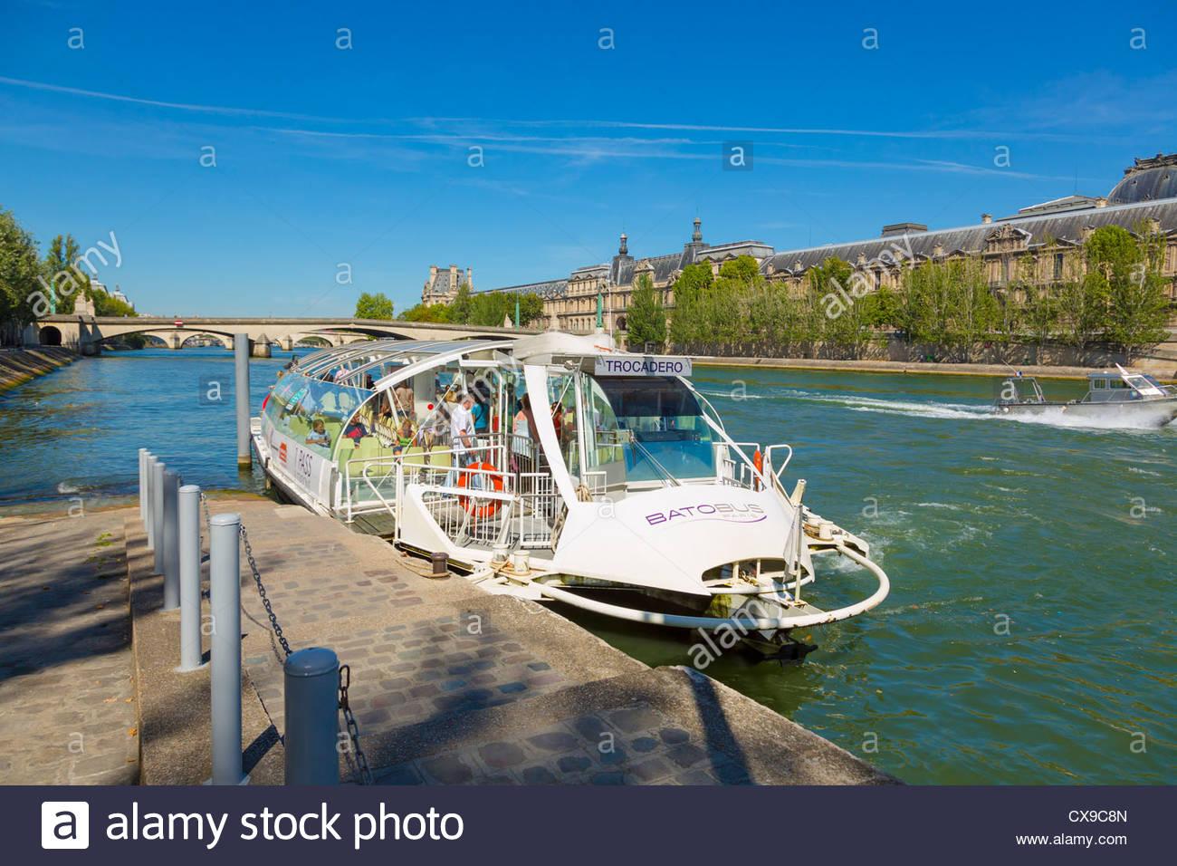 St Germain Des Pres Batobus River Cruise Terminal On River Seine - River cruises in france