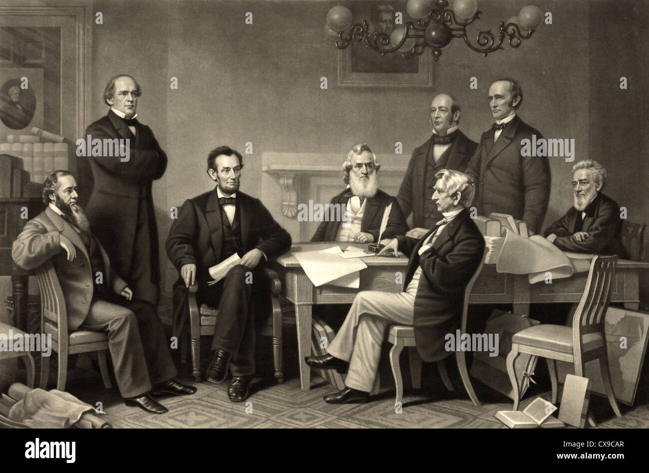emancipation proclamation stock photos emancipation proclamation abraham lincoln signing the emancipation proclamation on 22 1862 stock image