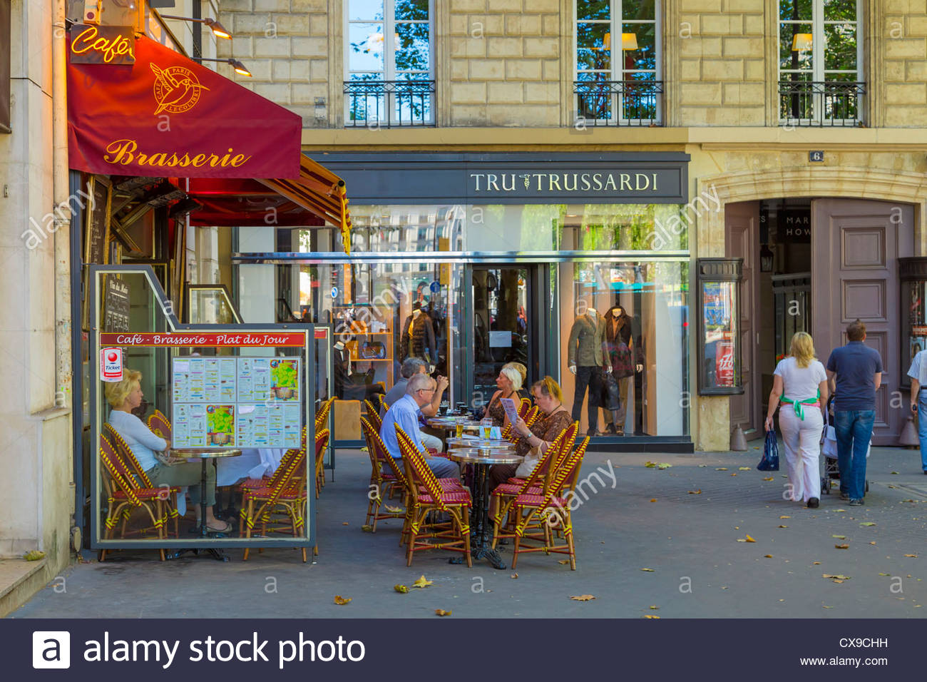 Cafe in the vieux port terra vecchia bastia corsica france stock - Street Cafe Near Place De La Concorde In Paris France Stock Image