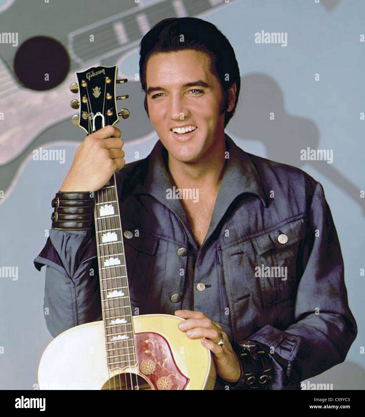 elvis presley 1935 1977 with gibson acoustic guitar about 1966 stock