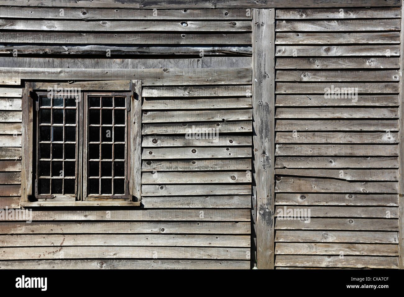 Weathered Clapboard Siding Window Frame Shelburne Nova