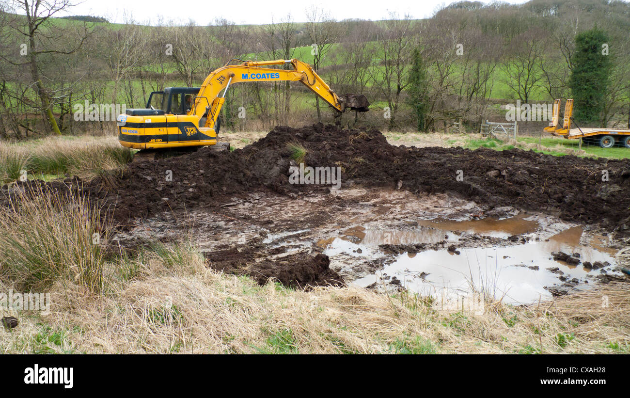 Contractor With A 360degree Excavator Digging A Wildlife