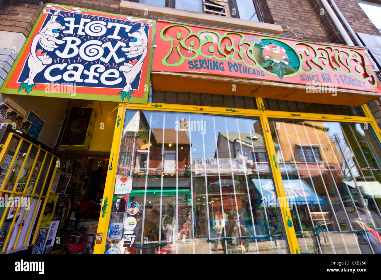 marijuana smoke shop kensington market toronto ontario canada stock photo royalty free. Black Bedroom Furniture Sets. Home Design Ideas