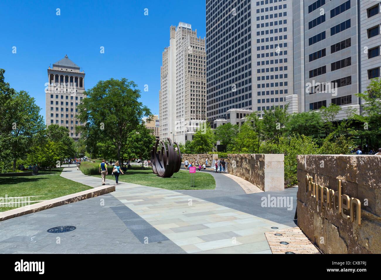 Citygarden Urban Park And Sculpture Garden In Downtown St