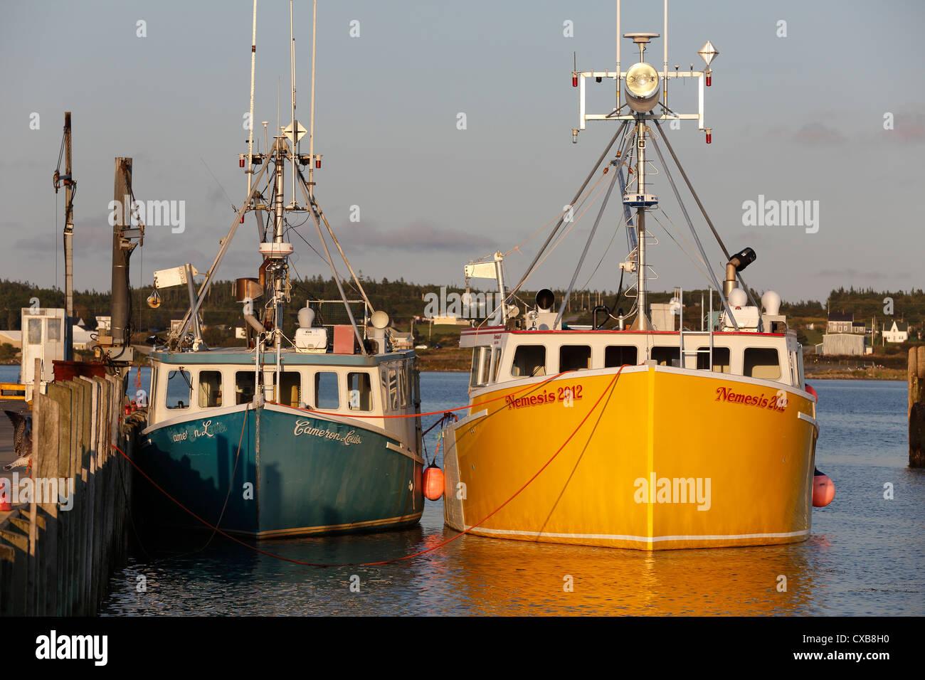 Fishing boats west pubnico nova scotia canada stock for Nova scotia fishing