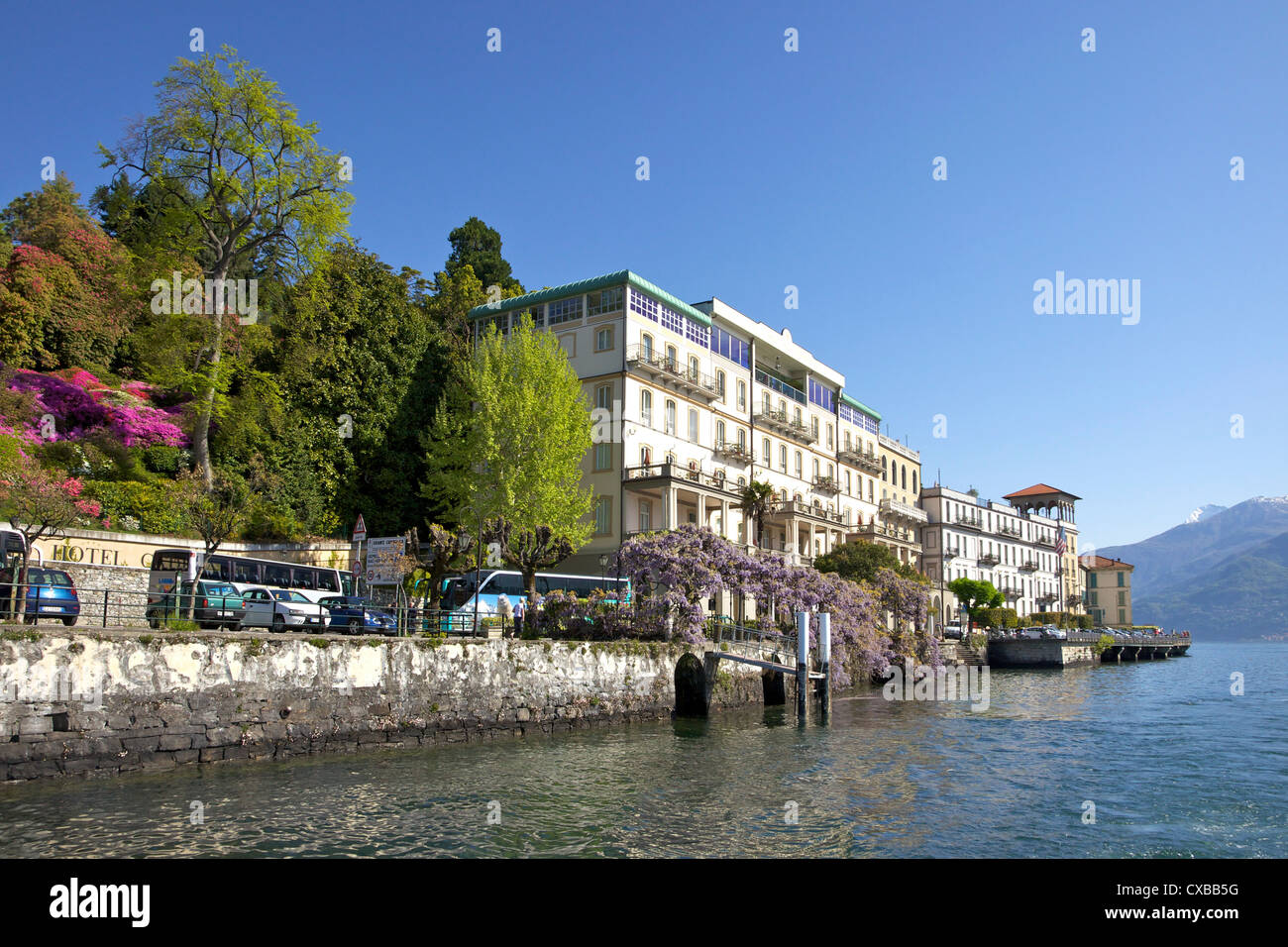 Spring sunshine on the grand hotel cadenabbia lombardy Color hotel italy