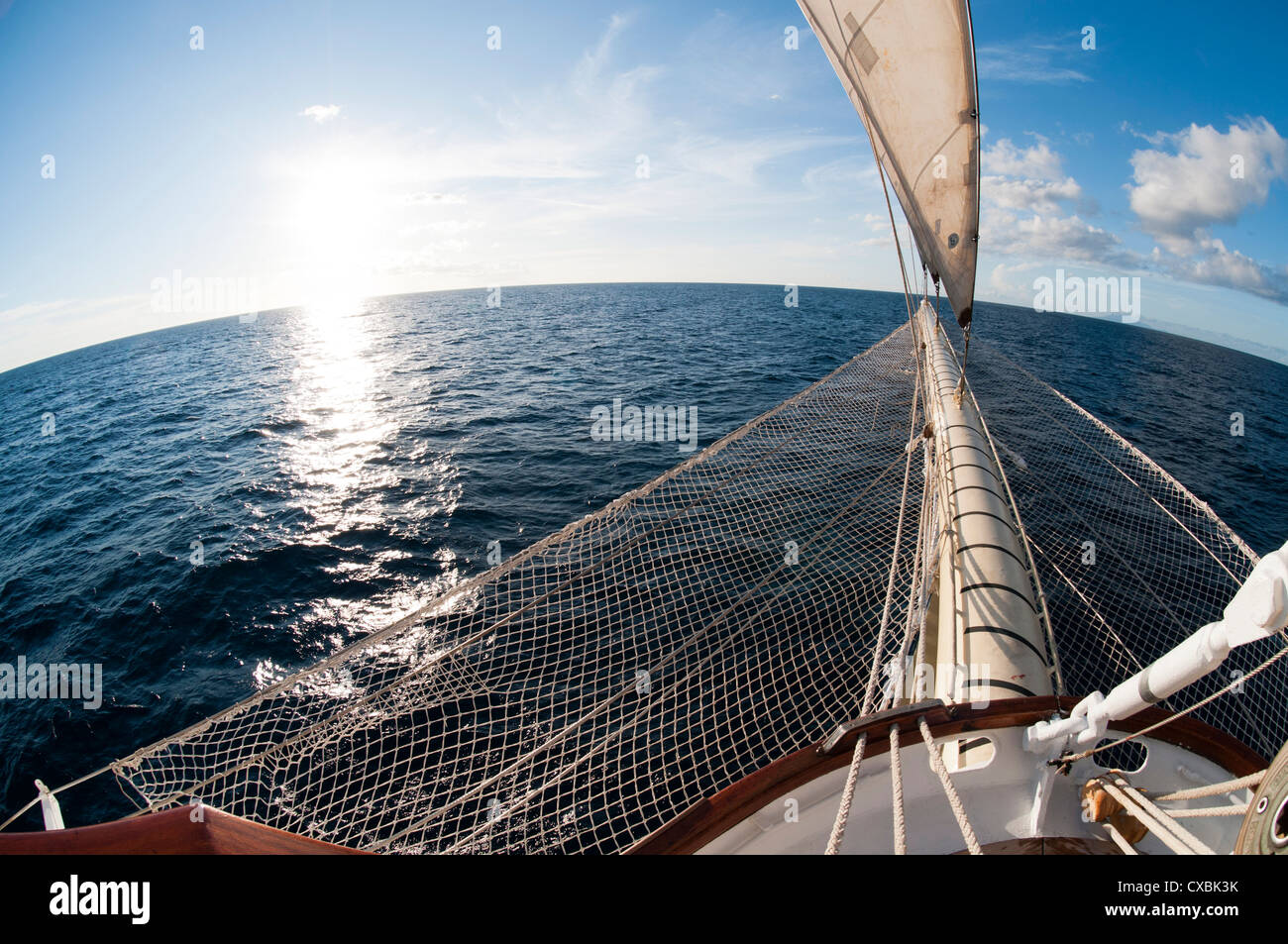 star clipper sailing cruise ship deshaies basse terre guadeloupe stock photo royalty free. Black Bedroom Furniture Sets. Home Design Ideas