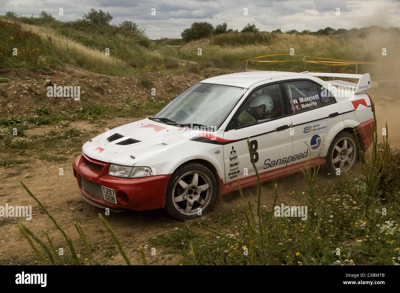 MItsubishi Lancer rally car Stock Photo, Royalty Free Image ...