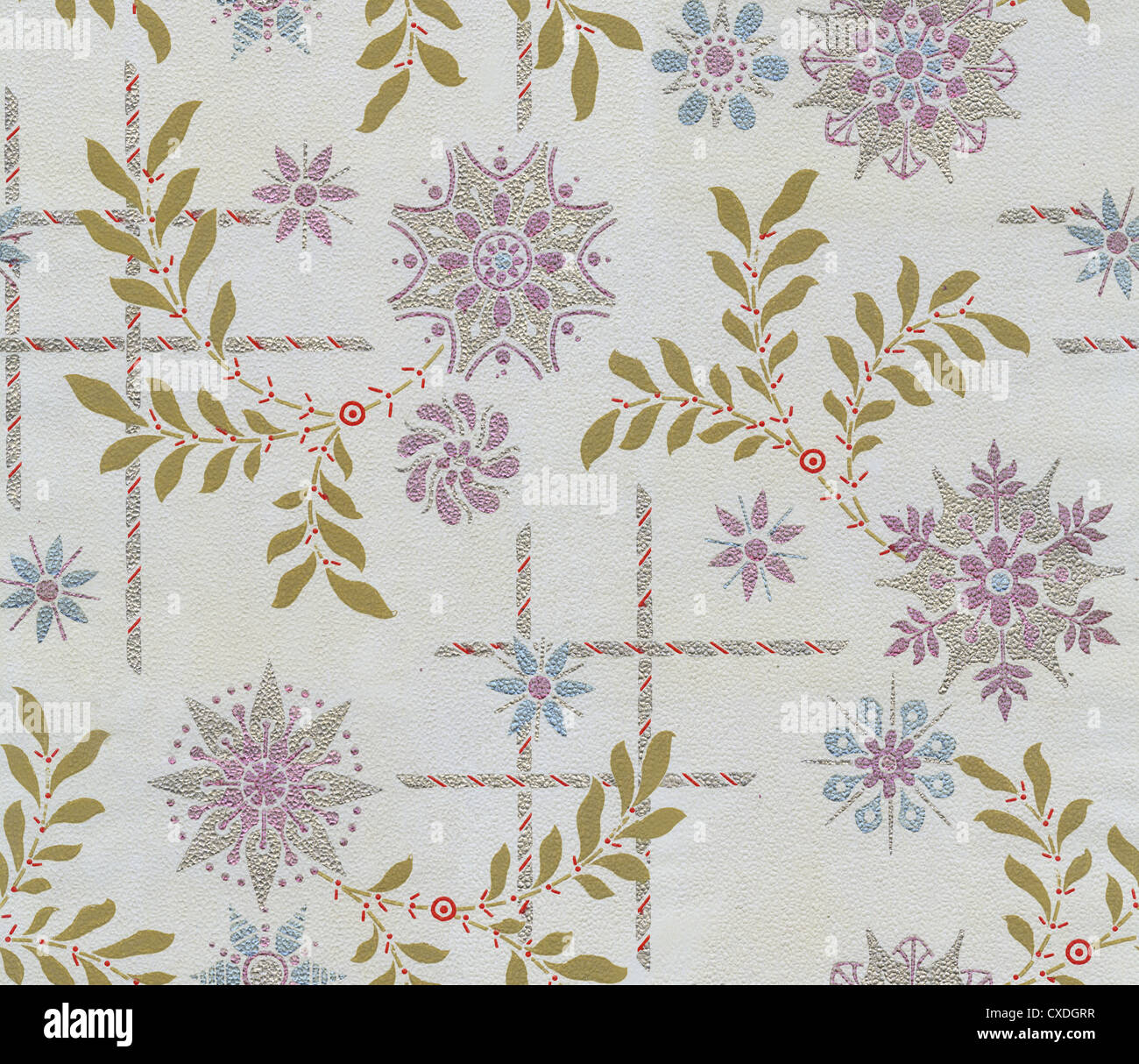 Authentic Wallpaper: Circa 1880s Victorian Wallpaper. This Authentic Fragment