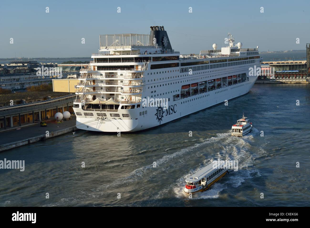 MSC Cruises Cruise Ship Docked At Venice Cruise Terminal Venice - Italy cruises