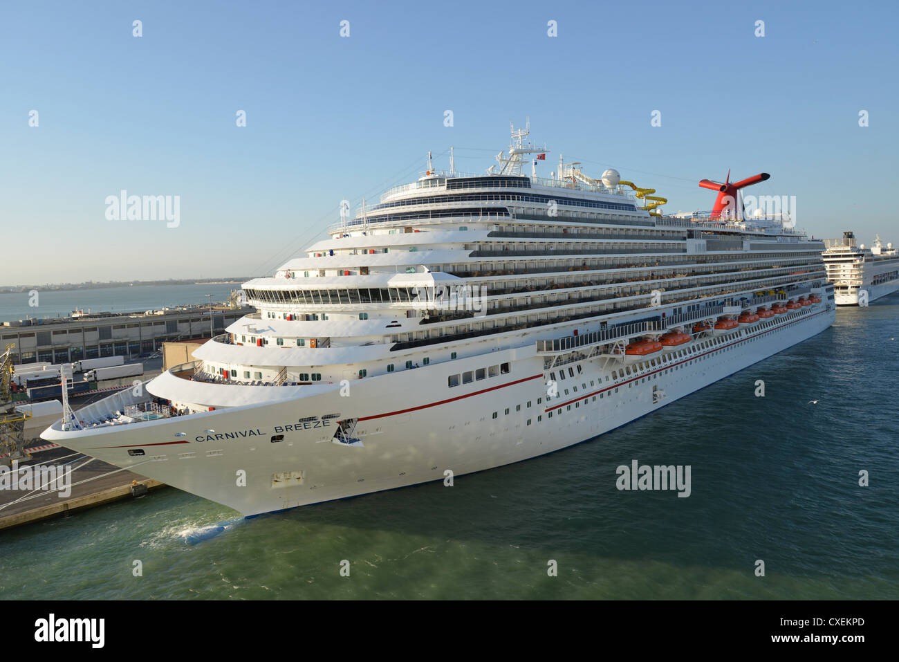 Carnival Cruise Lines Carnival Breeze Cruise Ship Docked At - How old are carnival cruise ships