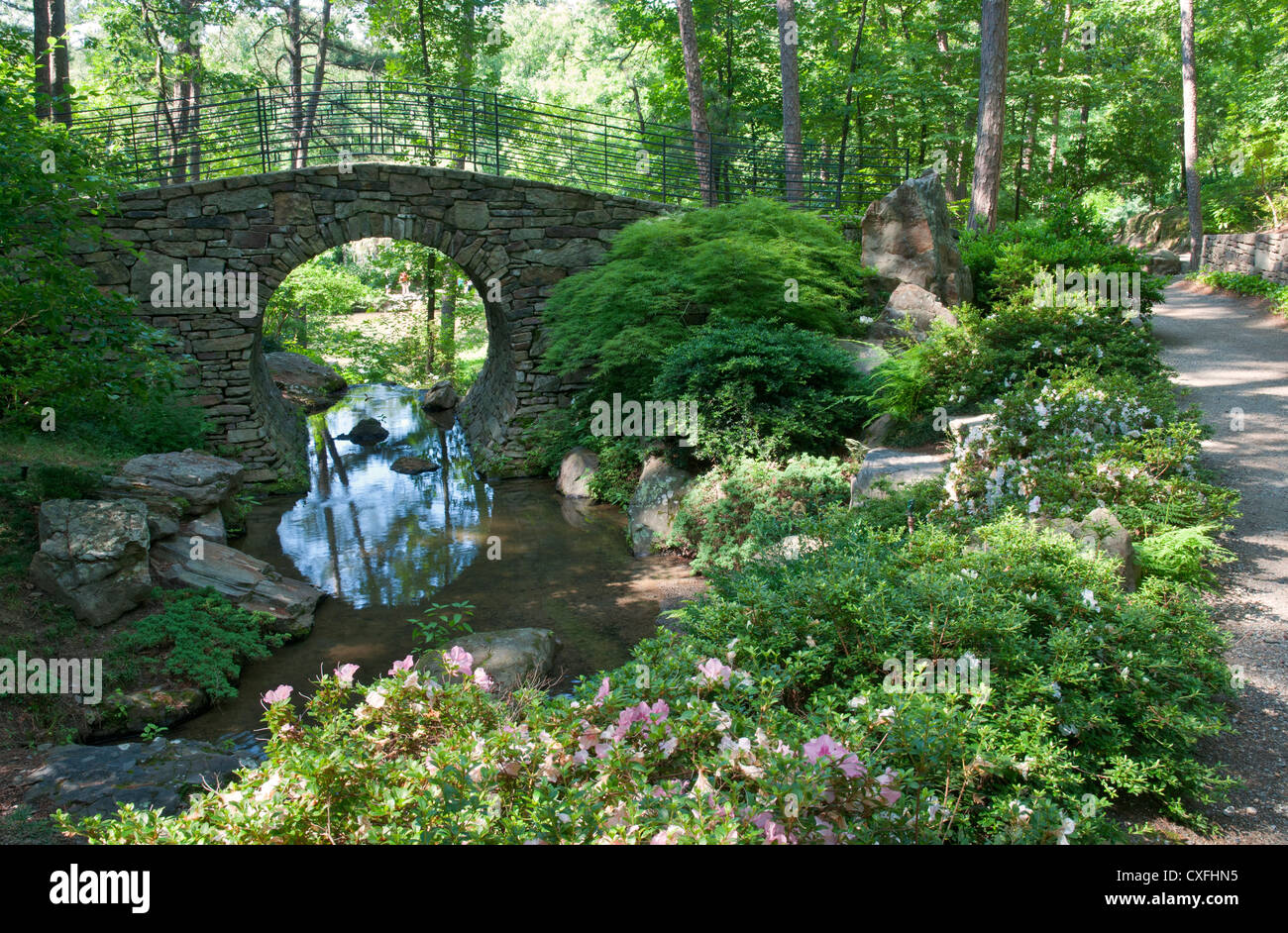 Arkansas Hot Springs Garvan Woodland Gardens Ada Accessible Stock Photo Royalty Free Image