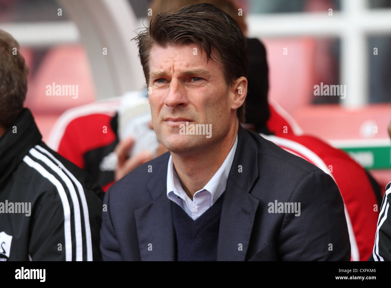 Swansea City manager Michael Laudrup Stock Royalty Free