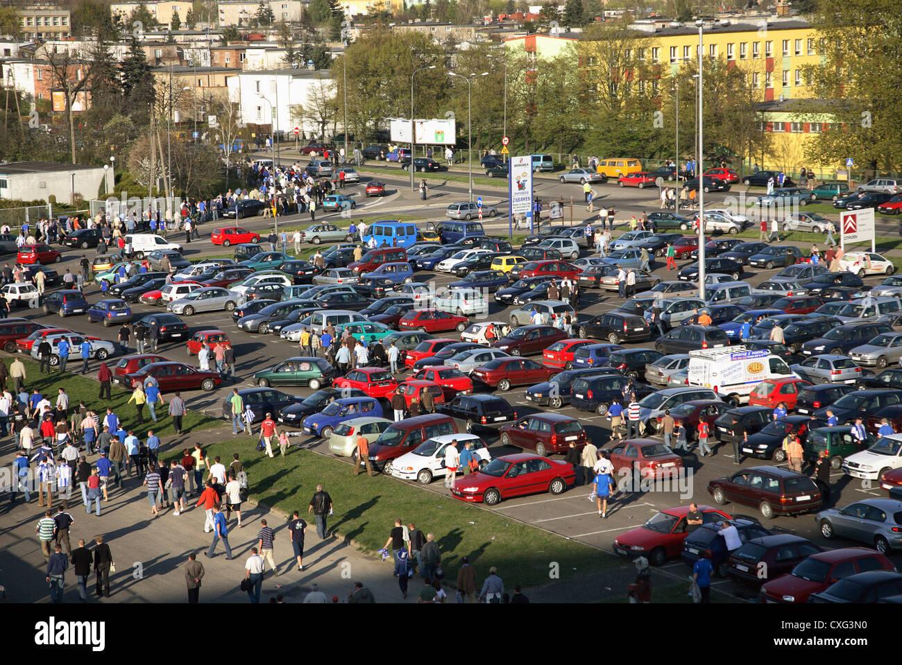 Lech Poznan News: Parking At The Stadium For A Home Game Lech Poznan, Poznan