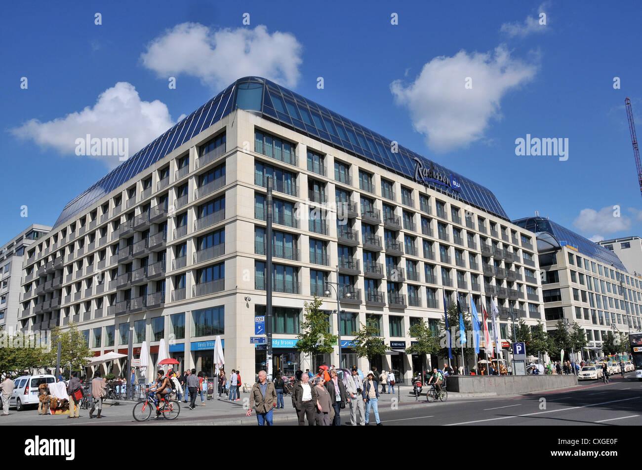 radisson blu hotel berlin germany stock photo royalty free image 50764015 alamy. Black Bedroom Furniture Sets. Home Design Ideas
