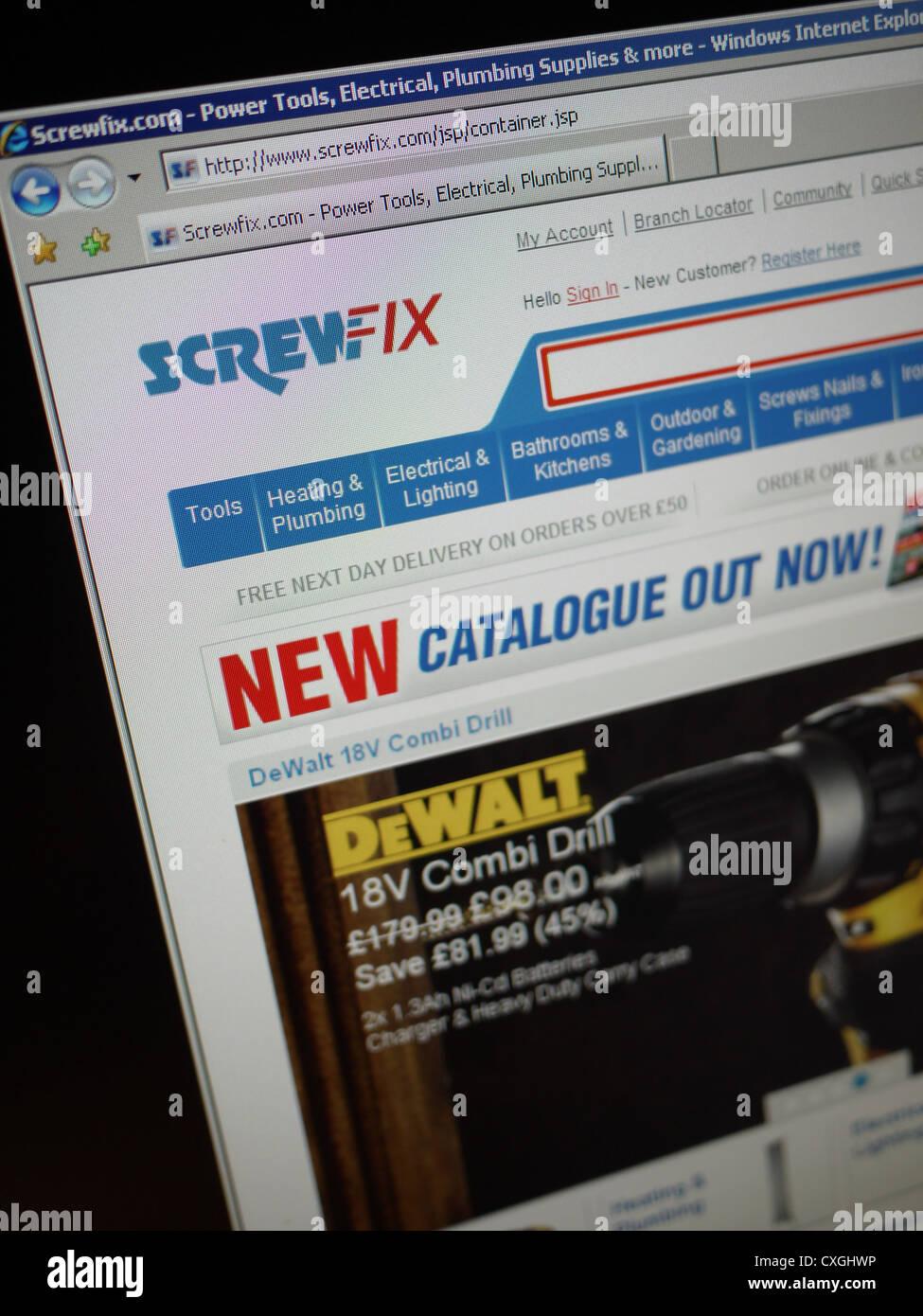 screwfix.com screwfix online hardware store Stock Photo, Royalty ...